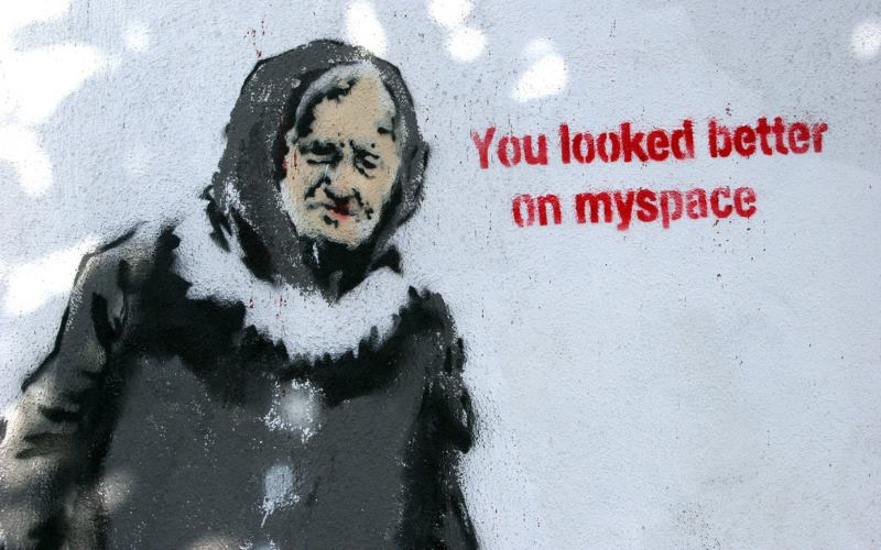 You Looked Better On MySpace - Los Angeles - Banksy